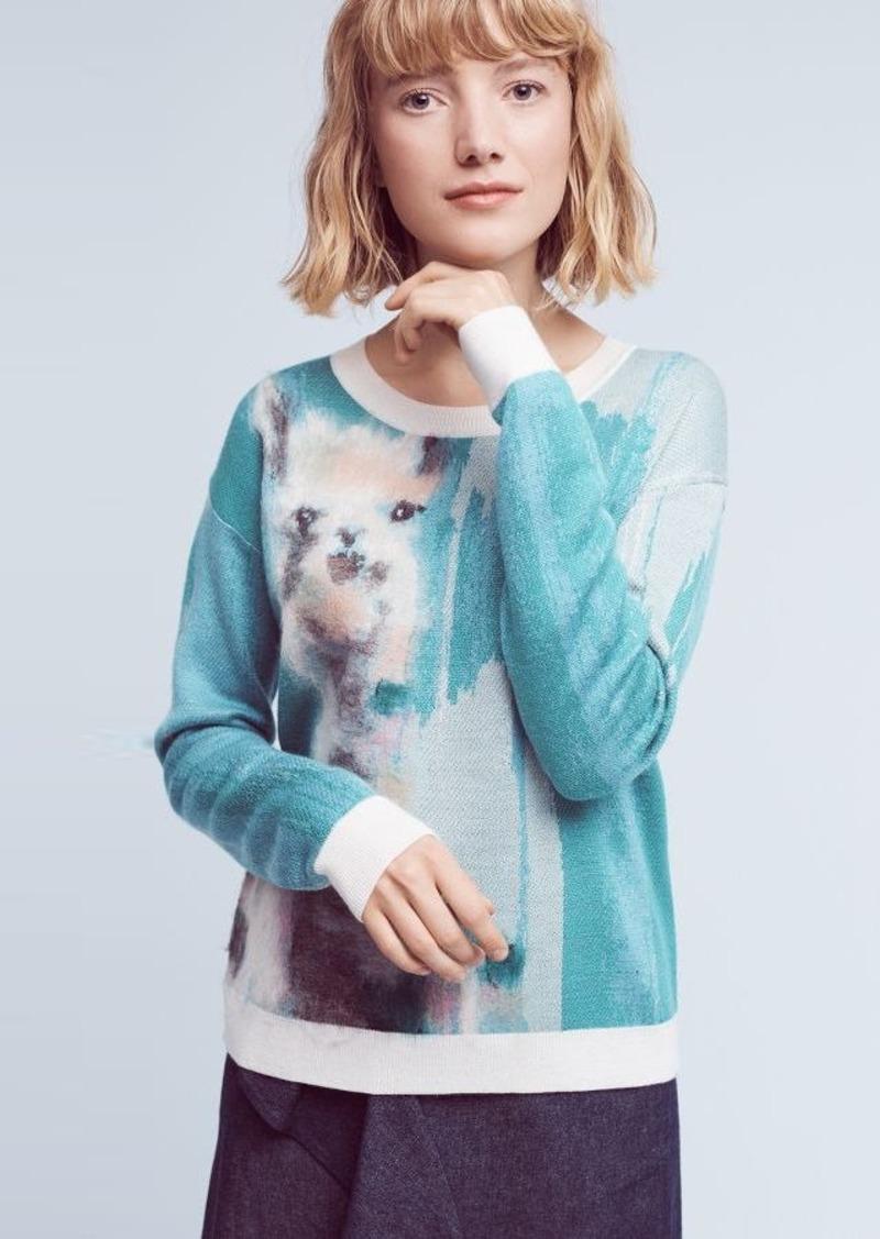 Anthropologie Farm Animal Pullover