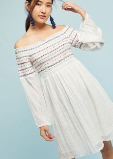 Anthropologie Farm Rio Off-The-Shoulder Smocked Top