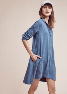 Anthropologie Farryn Laced-Back Shirtdress