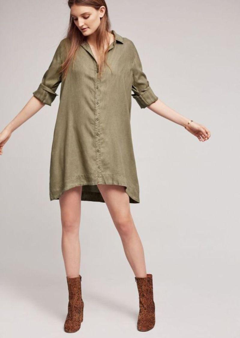 Anthropologie Farryn Laced-Back Shirtdress