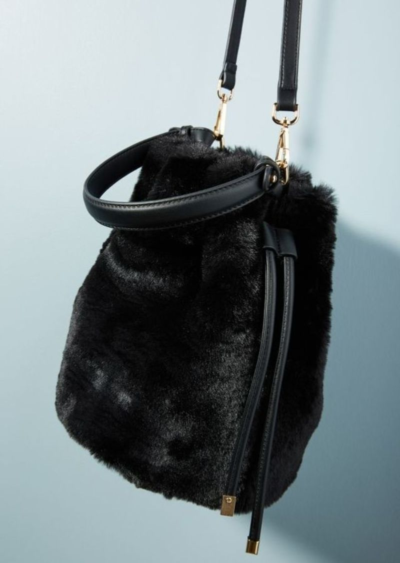 cc6430641e On Sale today! Anthropologie Faux Fur Crossbody Bucket Bag