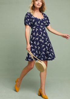 Anthropologie Fern Ruched Dress