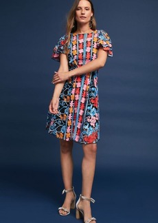 Anthropologie Ferrah Embroidered Dress