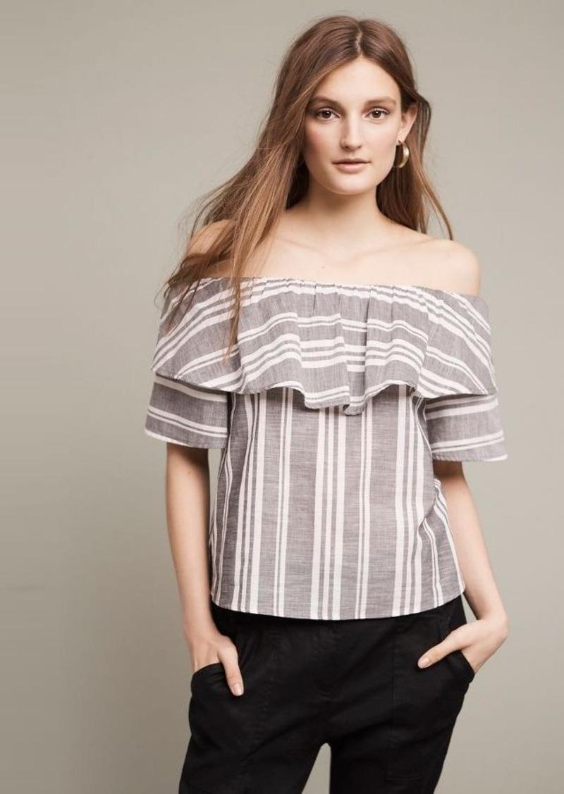 82e22aef33e Anthropologie Festive Stripe Off-The-Shoulder Top   Casual Shirts