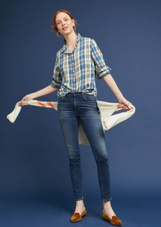 Flannel High-Low Buttondown