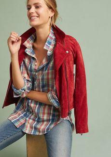 Flannel High-Low Buttondown