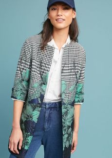 Floral & Houndstooth Coat