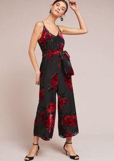 Floral Burnout Waisted Jumpsuit
