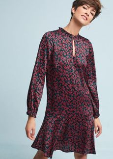 Anthropologie Floral Keyhole Tunic Dress