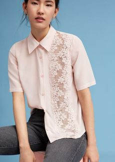 Floral Lace Panel Blouse