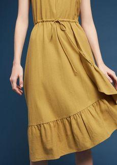 Flounced Silk Noil Dress