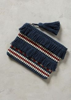 Anthropologie Fringed & Tasseled Pouch