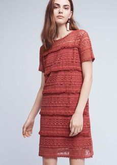 Anthropologie Fringed Lace Tunic