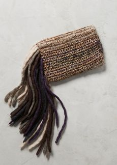 Anthropologie Fringed-Yarn Clutch