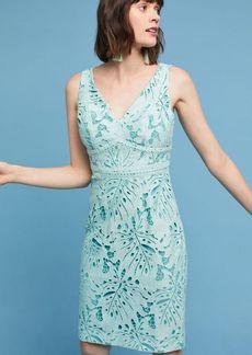 Anthropologie Gardenia Lace Column Dress