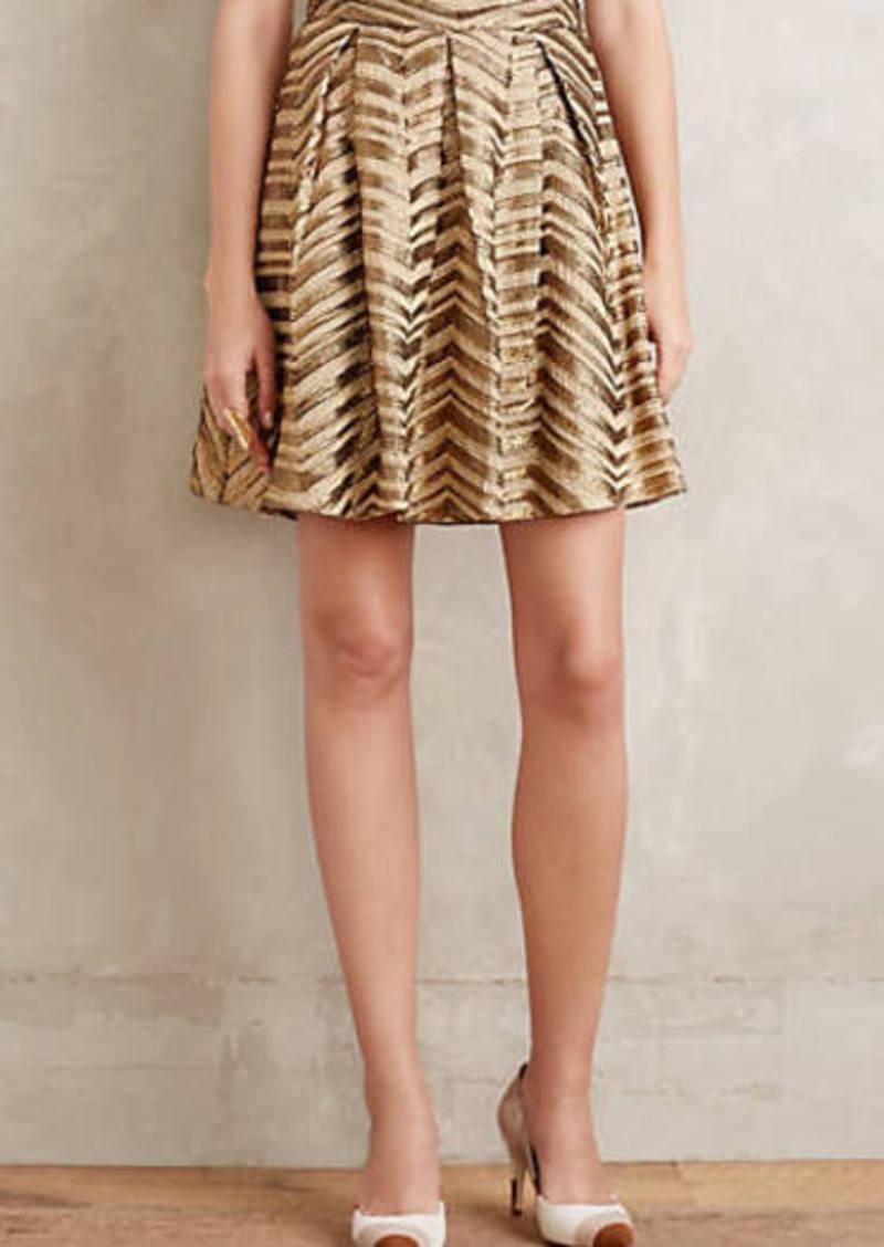 Anthropologie                          Gilded Chevron Skirt