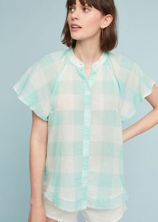 Gingham Flutter Top