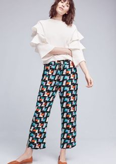 Anthropologie Ginza Printed Pants