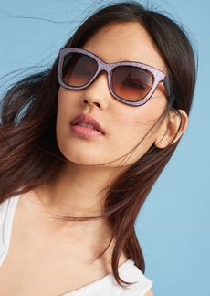 Anthropologie Glittered Wayfarer Sunglasses