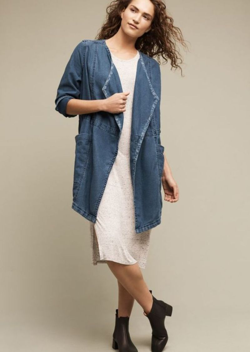 Anthropologie High Plains Chambray Anorak