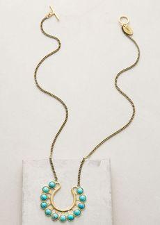 Anthropologie Horseshoe Pendant Necklace