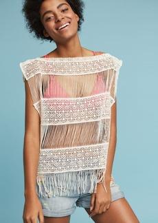 Anthropologie Inez Crocheted Top