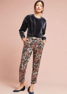 Jacquard Metallic Slim Trousers