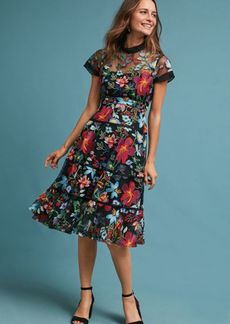 Anthropologie Janine Embroidered Dress