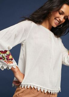 Jeslyn Embroidered Peasant Top