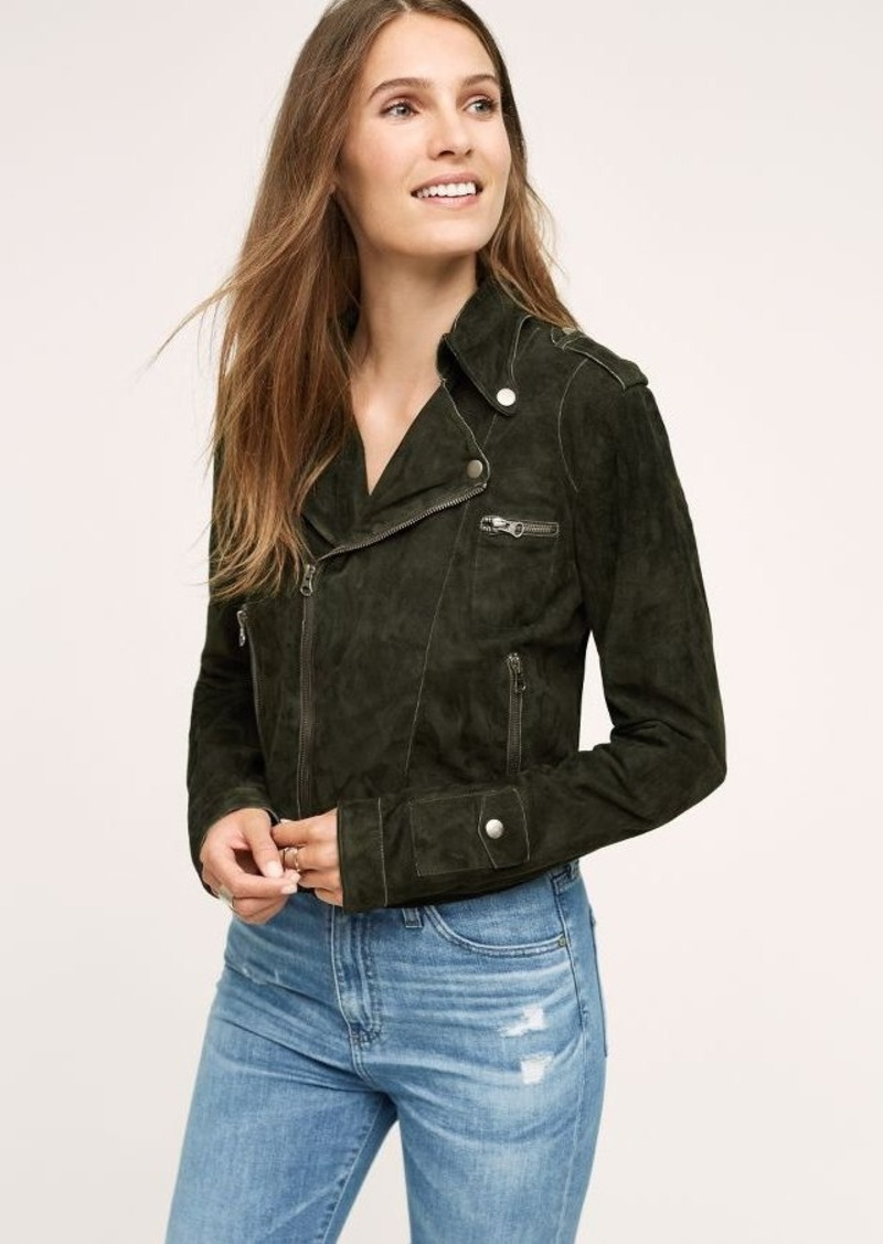 Anthropologie Josey Washed Suede Jacket