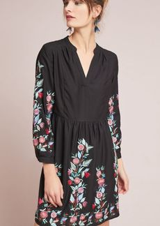 Anthropologie Kaia Embroidered Swing Dress