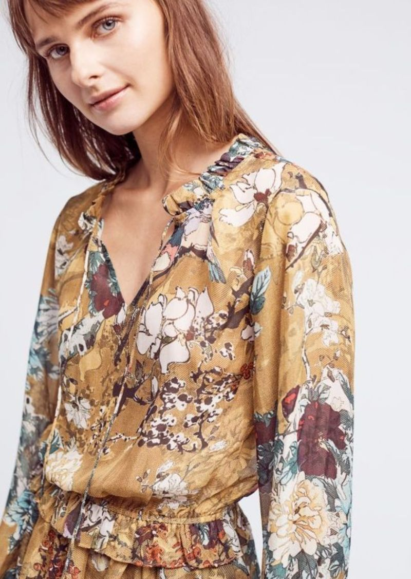 Anthropologie Keystone Silk Blouse