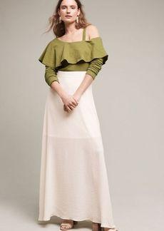 Anthropologie Kinsale Maxi Slip Skirt