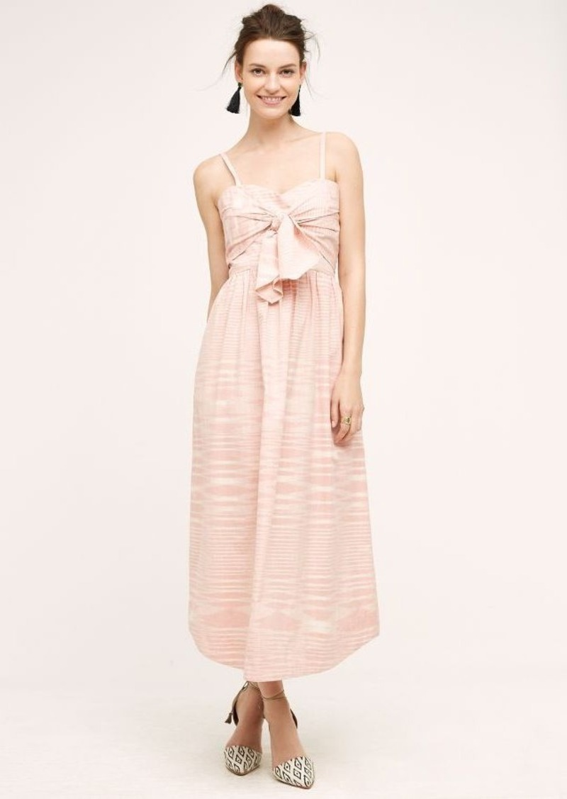 Anthropologie Knotted Ikat Dress