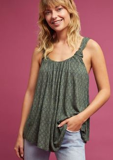 Anthropologie Knotted Scoop Neck Tank Top