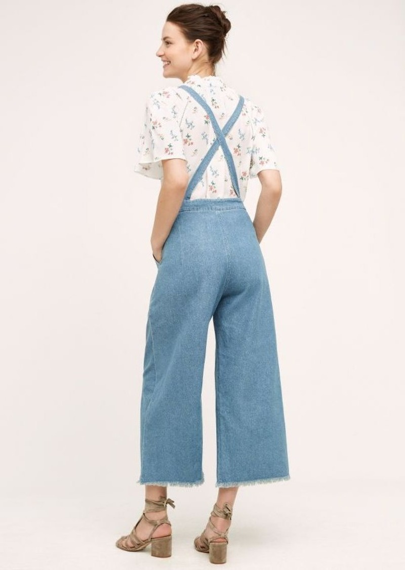 Anthropologie Knotted Wide-Leg Overalls