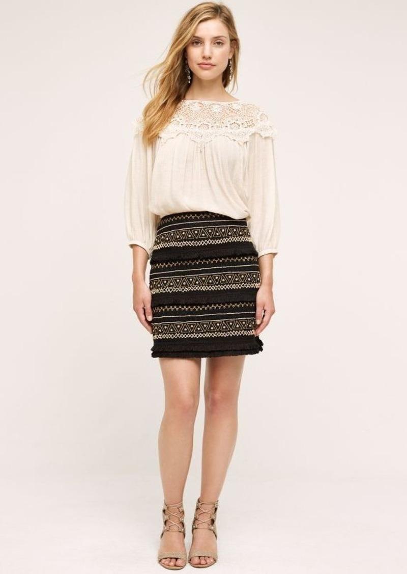 Anthropologie La Fringe Skirt