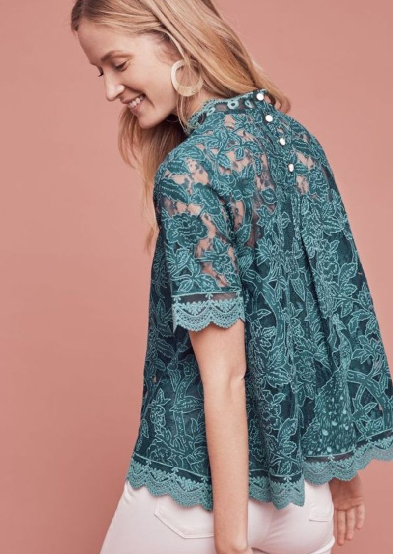Anthropologie Lace Meadows Blouse