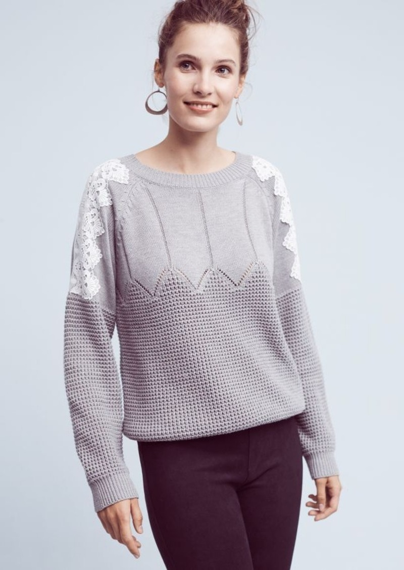 Anthropologie Laced Darmon Pullover