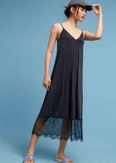 Anthropologie Laced-Hem Slip Dress