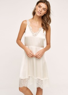 Anthropologie Laced Silk Chemise