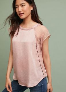 Anthropologie Laced-Sleeve Shell