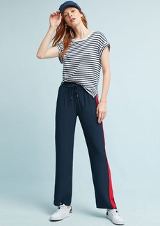 Anthropologie Lany Striped Track Trousers