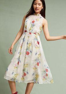 Anthropologie Larietta Floral Midi Dress