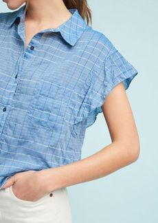 Larissa Cross-Hatch Buttondown