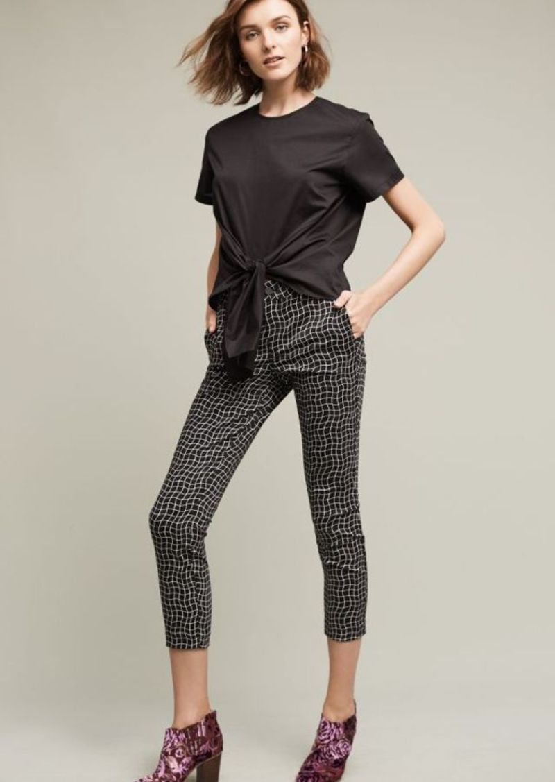 Anthropologie Level 99 Gridwave Mid-Rise Trousers