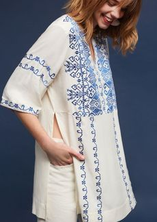 Anthropologie Liana Embroidered Tunic