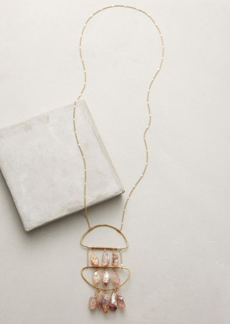 Anthropologie Lilac Pendant Necklace