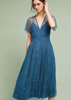 Anthropologie Lille Beaded Midi Dress