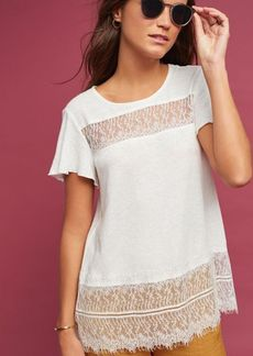 Anthropologie Linen & Lace Tee